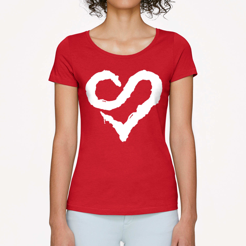 Sunrise Avenue Shop Logo Heart Sunrise Avenue Girlie Shirt