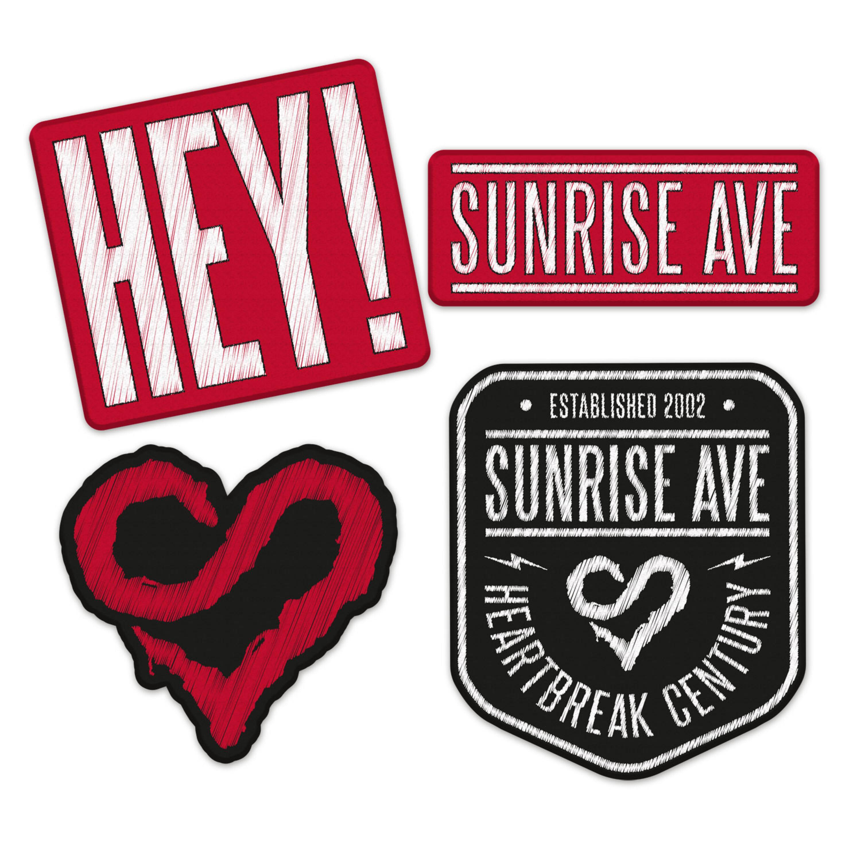 √Hey! von Sunrise Avenue - Patch - Set jetzt im Sunrise Avenue Shop