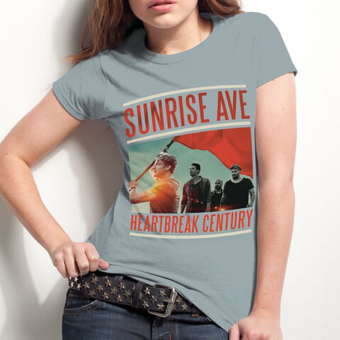 Heartbreak Century Cover von Sunrise Avenue - Girlie Shirt jetzt im Sunrise Avenue Shop