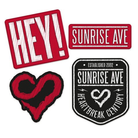 √Hey! von Sunrise Avenue - Set of patches jetzt im Sunrise Avenue Shop