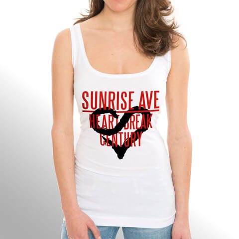 Heartbreak Century Logo von Sunrise Avenue - Girlie Top jetzt im Sunrise Avenue Shop